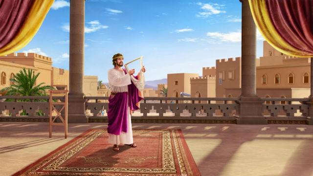 दाऊद संगीत द्वारा यहोवा की स्तुति करता है