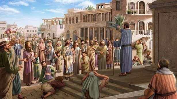 योना परमेश्वर के वचन की घोषणा करता है