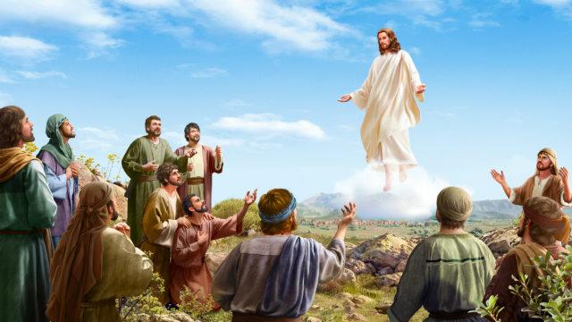 प्रभु यीशु पुनर्जीवित होकर स्वर्ग में आरोहण करता है