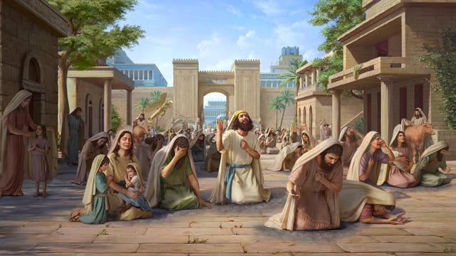 नीनवे के लोग अपने दुष्ट तरीकों को त्यागते हैं